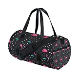 AURELIOR Flamingo Gym Duffle Bag Drum tote Fitness Shoulder Handbag Messenger Bags