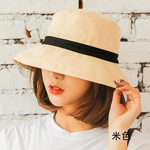 ee1d8b01abc Amazon.com  GAOQIANGFENG Womens UPF 50+The Summer Sun All-Match Female  Fisherman hat Leisure Sweet Sun Visor Art
