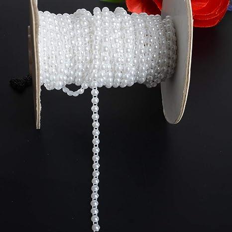 FLAT BACK FAUX PEARL BEAD BRAID TRIM STRING BRIDL DRESSMAKING CARD EMBELLISHMENT