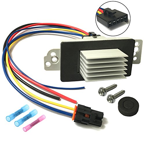 Motor Speed Control Kit (AC Heater Blower Motor Resistor Control Module Kit with Harness for 2003-2006 Chevy Silverado Suburban Tahoe Avalanche GMC Sierra Yukon Cadillac Escalade, Replaces # 1581773, 89018778, 89019351 etc)