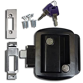 Amazon.com : Black RV Paddle Entry Door Lock Latch Handle Knob ...