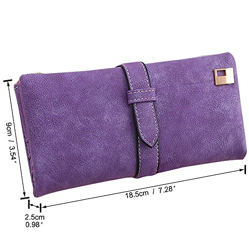 Clutch blue Bag royal Card Wallet Women Handbag Holder Leather Purse Coin PU Wallet Wiwsi 5qROgwO