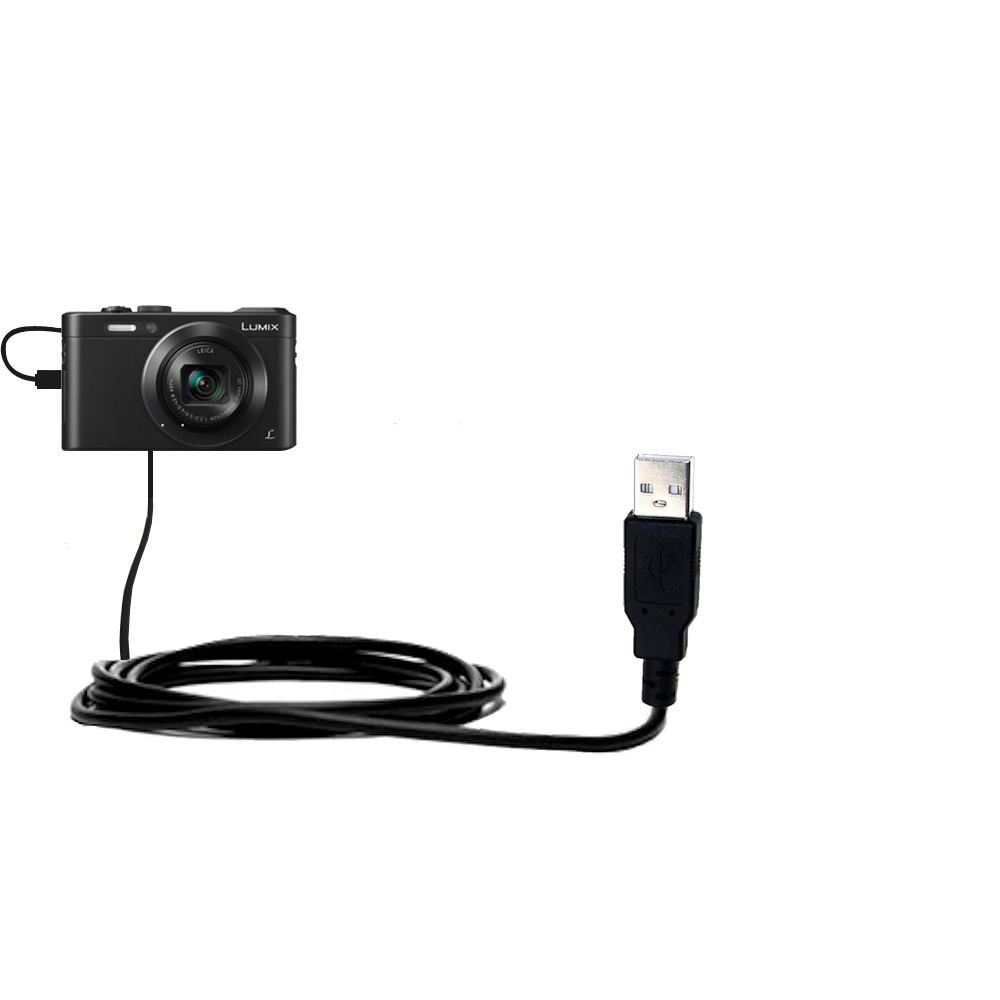 Built with TipExchange Technology Charge and Data Sync with the same cable Gomadic Hot Sync and Charge Straight USB cable Compatible with Panasonic Lumix LF1//DMC-LF1