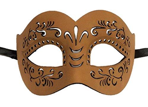 Faux Leather Half Mask Designs Mardi Gras Halloween Men Women Face Cat's Eyes