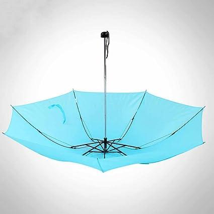 Kaxima Ligero, Paraguas de Bolsillo, Triple, Paraguas Plegable, Paraguas de Sol,