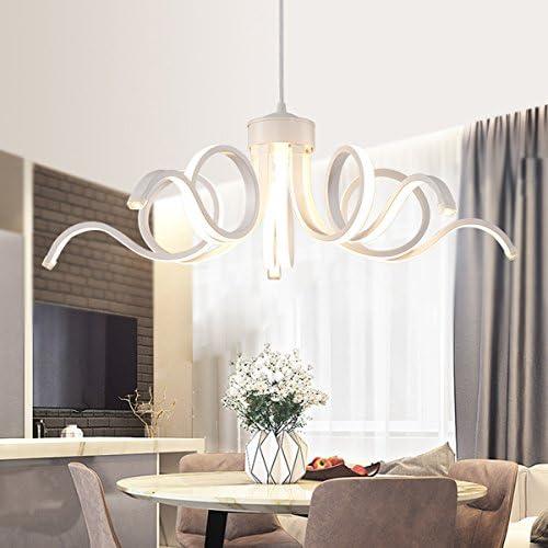 LightInTheBox Modern Chandelier Pendent Light LED Lamp Curl Style for Hallway,Bedroom,Kitchen,Kids Room White