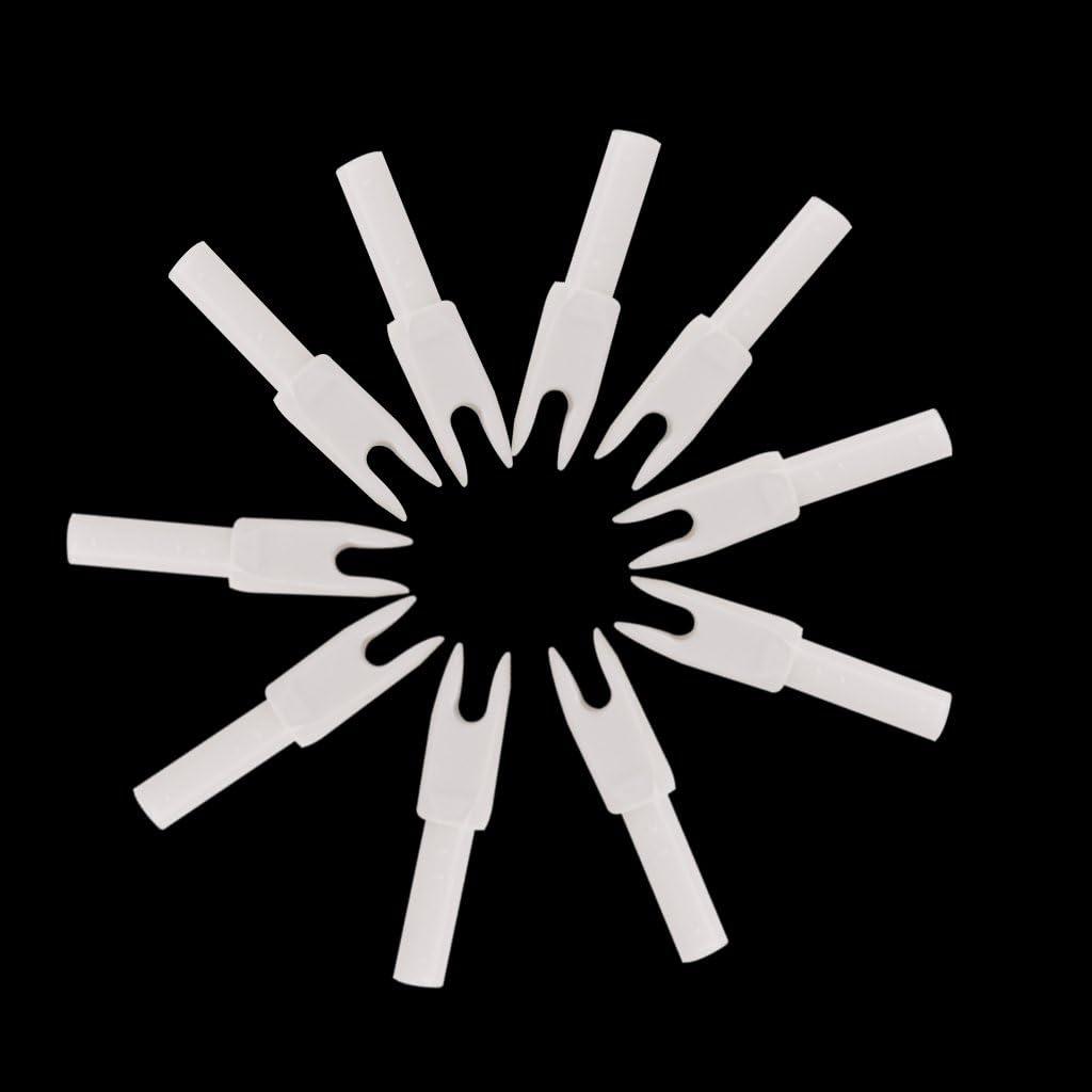 MagiDeal 10pcs Cocca para Tiro con Arco Accesorios Flecha G tama/ño Transparente