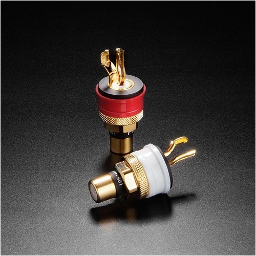 Furutech high-end grade RCA connector FP-901(G) 24k Gold plating 2pcs from Japan