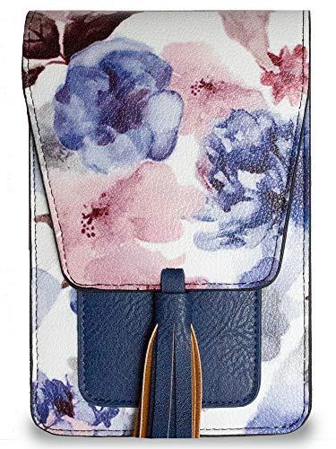 Harper Crossbody (Blue Floral)
