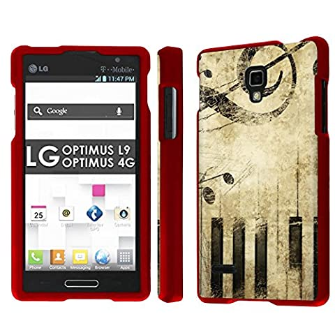 LG Optimus L9 [P769] [MS769] / Optimus 4G Total Armor Case [NakedShield] [Rose Red] Total Armor Case - [Music vintage] for LG Optimus L9 [P769] [MS769] / Optimus (Lg L9 Music Case)