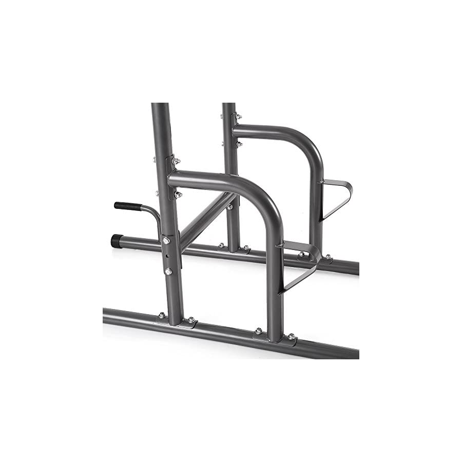 TOMSHOO Fitness Power Tower with Dip Station Pull Up Bar Standing Multi Push Up Knee Raise Stand Rack for Home Gym Workout