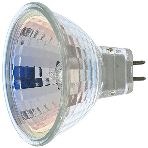 12 Pack Satco S3463 12-Volt 50 Watt Halogen MR16 Flood Bulb with 36 Degree Beam - No Lens