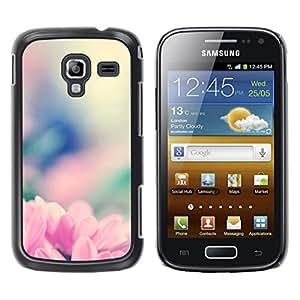iKiki Tech / Estuche rígido - Rosa Flowrs Glow - Samsung Galaxy Ace 2