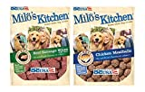Milo's Kitchen Bundle: Chicken Meatballs and Beef Sausage Dog Treats, 18 Oz Each Review