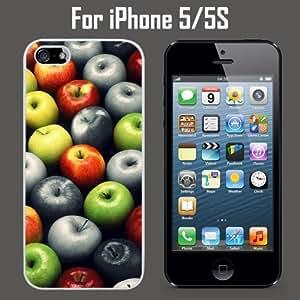 Color Apples Custom Case/ Cover/Skin *NEW* Case for Apple iPhone 5/5S - White - Plastic Case (Ships from CA) Custom Protective Case , Design Case-ATT Verizon T-mobile Sprint ,Friendly Packaging - Slim Case