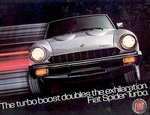 1981 Fiat Spider 2000 Turbo Brochure Jody Scheckter