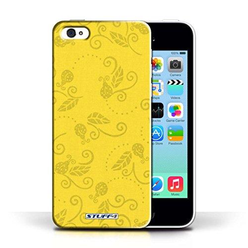 iCHOOSE Print Motif Coque de protection Case / Plastique manchon de telephone Coque pour Apple iPhone 5C / Collection Motif Coccinelle / Jaune