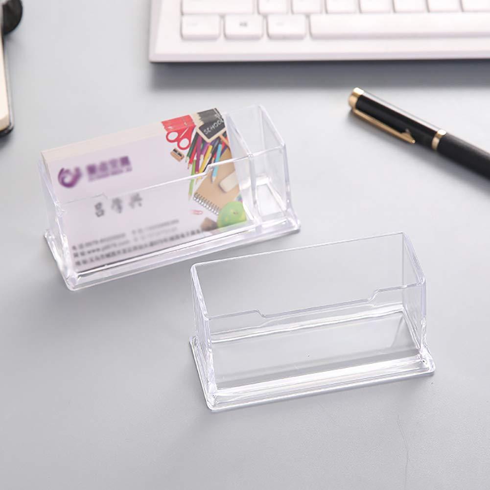 Contenitore per biglietti da visita per uomini e donne Portabiglietti da scrivania per desktop trasparente con custodia porta carte da gioco
