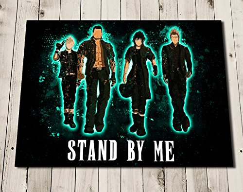 FINAL FANTASY 15 XV Art Print Poster Wall Decor - Noctis - Gladio - Prompto - Ignis - Stand By (Final Fantasy Merchandise)