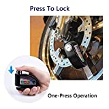 Uolor Alarm Disc Lock, Anti-Theft Motorcycle Disc