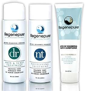 Regenepure - DR Shampoo, 8 Ounces + NT Shampoo, 8 Ounces + Biotin Conditioner, 8 Ounces