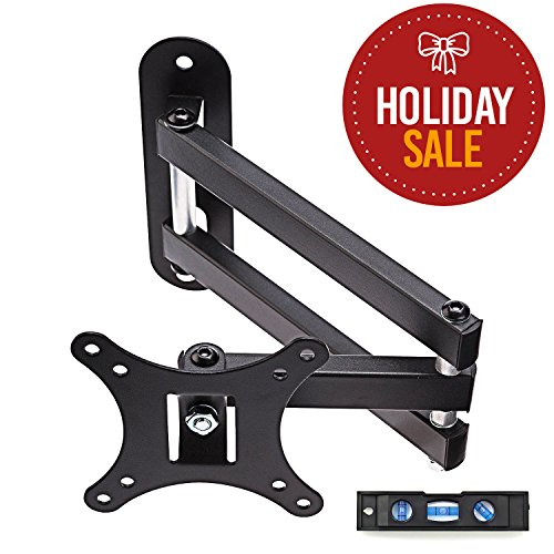 """Price comparison product image TV Wall Mount Bracket,  Full Motion Swivel and 15"""" Extension Arm for most 13 to 30-inch TVs"""