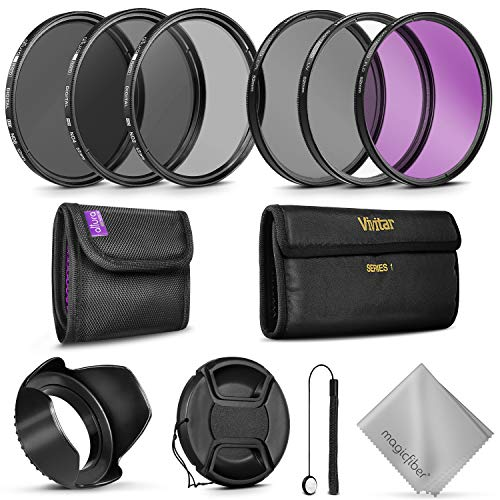 Professional 52MM Vivitar UV CPL FLD Lens Filters Kit and Altura Photo ND Neutral Density Filter Set. Photography Accessories Bundle for Nikon and Canon Lenses with a 52MM Filter Size (52mm Neutral Density Filter)