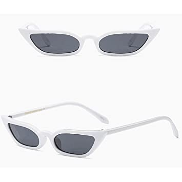 ef7e927adb Amazon.com  Fheaven Women Vintage Cat Eye Sunglasses Retro Small Frame  UV400 Eyewear Fashion Ladies for Summer Beach Travel (White)  Beauty