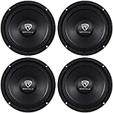 Rockville (4) RM68PRO 6.5 800 Watt 8 Ohm SPL Midbass/Midrange Car Speakers