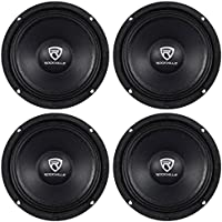 (4) Rockville RM68PRO 6.5 8-Ohm SPL Competition Grade Midrange Car Speakers Totaling 800 Watt Peak/400 Watt RMS with 1.5 High Temperature Voice Coil and a Huge 90 Oz Magnet Structure