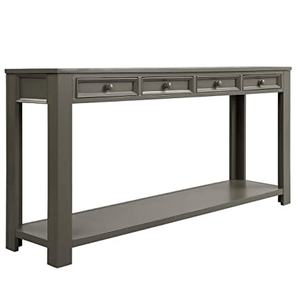 Amazoncom 64 Inch Long Hallway Tablejulyfox Console Table With 4