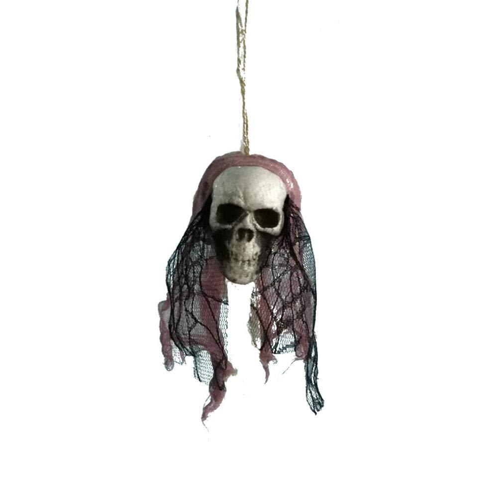 TAOtTAO Halloween Hanging Decor Pirates Corpse Skull Haunted House Bar Home Garden Decor (E)