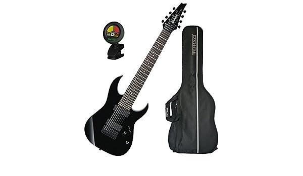 Ibanez RG8 8-string guitarra eléctrica Negro w/bolsa de concierto y sintonizador.: Amazon.es: Instrumentos musicales
