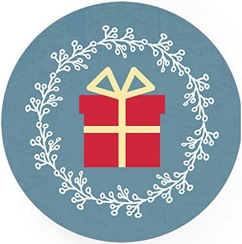 48 Weihnachtsaufkleber Weihnachtsgeschenk - für Geschenke zu Weihnachten/Sticker/Aufkleber/Etiketten/Geschenkaufkleber rund/Set
