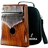 Moozica Koa Tone Wood 17 Keys Kalimba Marimba, High Quality Professional Finger Thumb Piano With Professional Kalimba Bag(Acacia Koa)