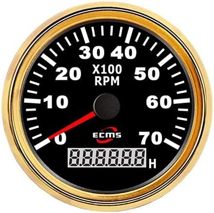 BXU-BG エンジン、船舶、修正車のための現在のRPM/合計時間で、インストルメントパネル85ミリメートルオートバイタコメータRPMメーター7000RPMゲージ