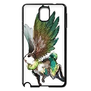 Yearinspace the Rabbit Can Fly Samsung Galaxy Note 3 Cases, Men Luxury Phone Case for Samsung Galaxy Note 3 {Black}