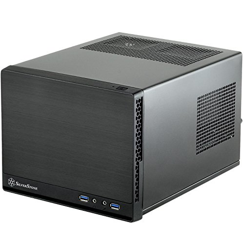 Silverstone Tek Mini-DTX, Mini-ITX Small Form Factor Computer Case with Faux Aluminum Front Panel Cases SG13B-Q