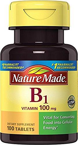 Nature Made Vitamin B1 (Thiamin) 100 mg. Tablets 100 Ct