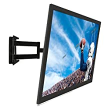 Mount-It! Full Motion Articulating Tilting Low-Profile Swivel TV Wall Mount Corner Bracket For 32 - 60 Inch Screen LCD LED Plasma 3D Flat Panel Screen TV (VESA Standard Up To 750x450mm), 175 Lb Weight Capacity, Black (MI-326B)