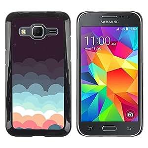 iKiki Tech / Estuche rígido - Clouds Dream Stars Teal Pink Sky Night - Samsung Galaxy Core Prime SM-G360