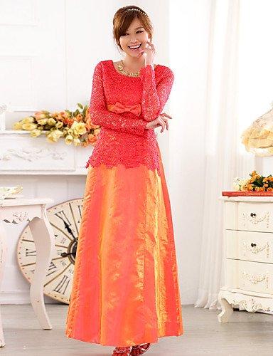 PU&PU Robe Aux femmes Grandes Tailles Grandes Tailles / Soirée Maxi Autres / Dentelle / Satin , purple-one-size , purple-one-size