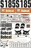 Complete S185 Decal Sticker Kit 30pcs (New Style) for Bobcat Skid Steers | Replaces OEM Model # 7120588