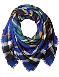 Women's Oversized Square Plaid Scarf