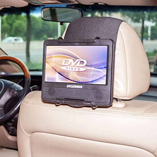 In Car Portable Dvd Player Travel Display Case W Headrest Mount