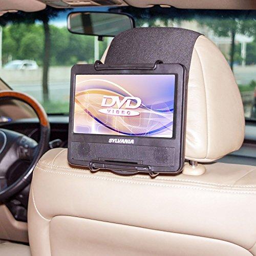 TFY Car Headrest Mount Holder for Swivel Screen Portable DVD