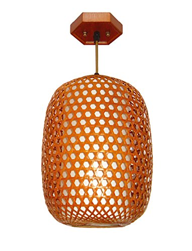 (Liveinu Oriental Classic Handmade Bamboo Art Pendant Lamps Pendant Light)