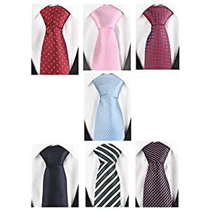 Set of 7 Elegant Neck Ties By Mens Collections - Multiple Sets to Chose From
