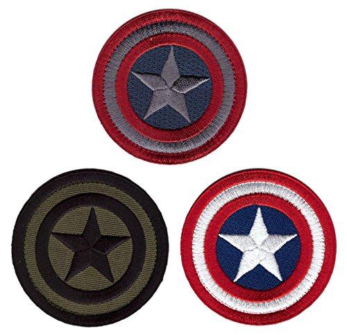 Set of 3 - Captain America Round Mini Shields Morale Tactica