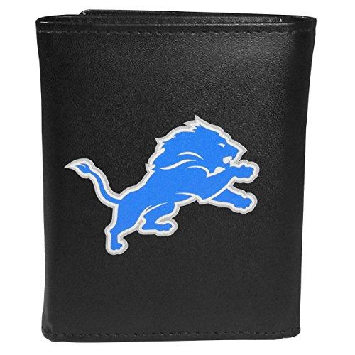 Siskiyou Sports NFL Detroit Lions Tri-fold Wallet Large Logo, Black